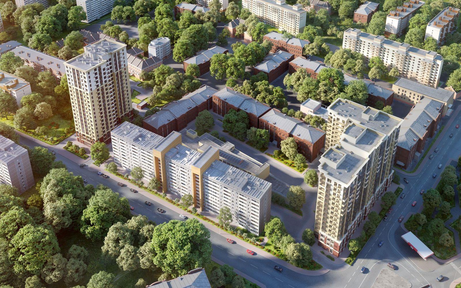 Визуализации жилого комплекса на севере Москвы | Студия Ракета